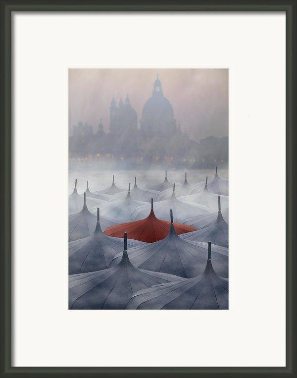 Venice In Rain Framed Print By Joana Kruse