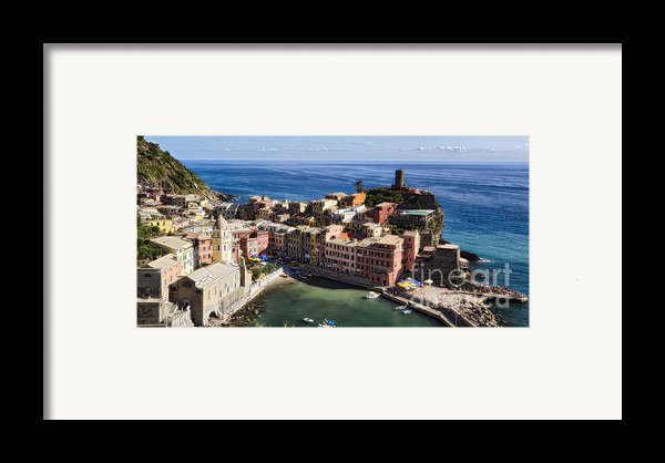 Vernazza From Above Framed Print By George Oze