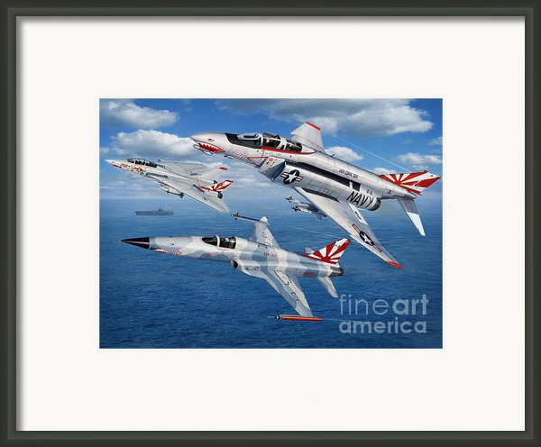 Vf-111 Sundowners Heritage Framed Print By Stu Shepherd