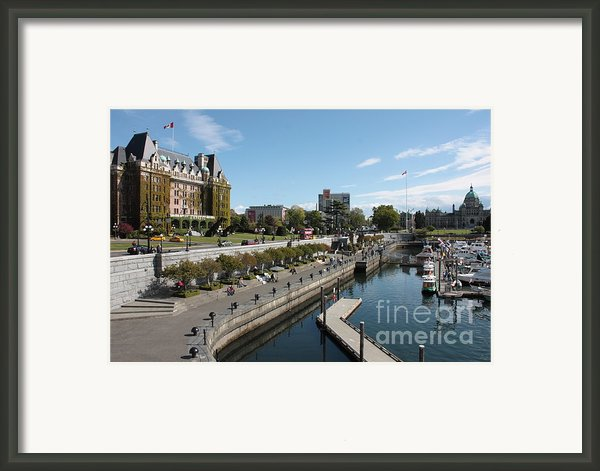 Victoria Harbour With Empress Hotel Framed Print By Carol Groenen