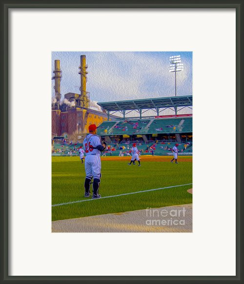 Victory Field Catcher 1 Framed Print By David Haskett