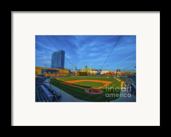 Victory Field Home Plate Framed Print By David Haskett
