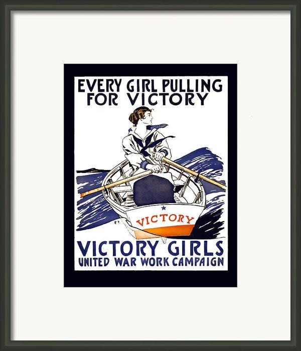 Victory Girls Of W W 1     1918 Framed Print By Daniel Hagerman