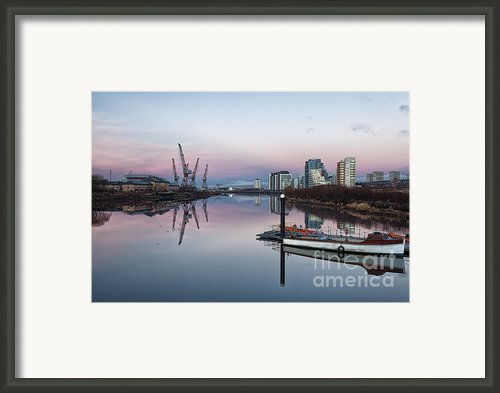View Down The Clyde. Framed Print By John Farnan