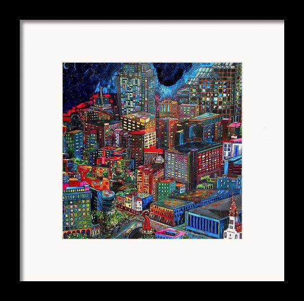 View From Hemisphere Framed Print By Patti Schermerhorn
