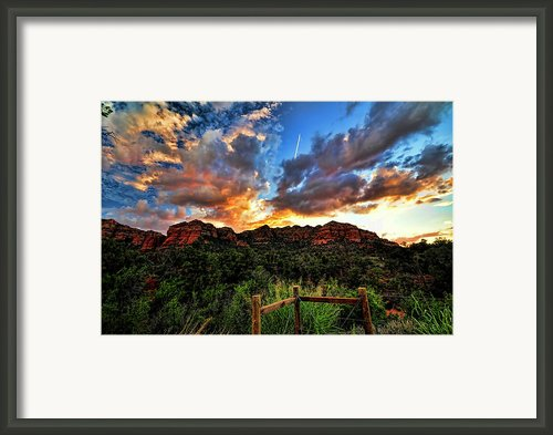 View From The Fence  Framed Print By Saija  Lehtonen