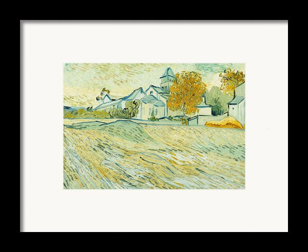 View Of Asylum And Saint-remy Chapel Framed Print By Vincent Van Gogh