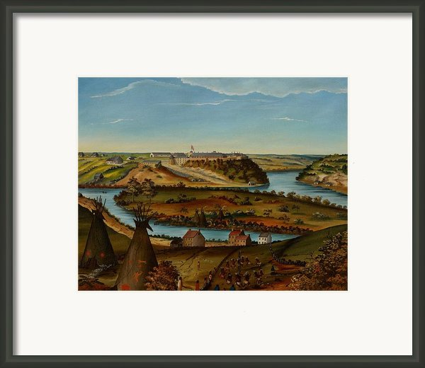 View Of Fort Snelling Framed Print By Edward K Thomas