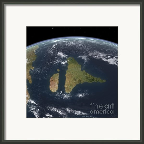View Of The Indian Subcontinent Framed Print By Walter Myers
