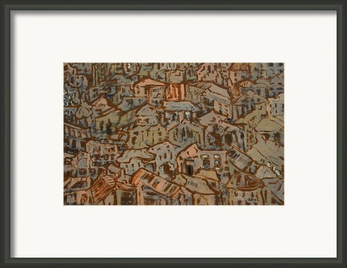 View Of The Town Framed Print By Oscar Penalber