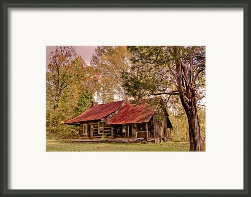 Viintage Cabin Framed Print By Debra And Dave Vanderlaan