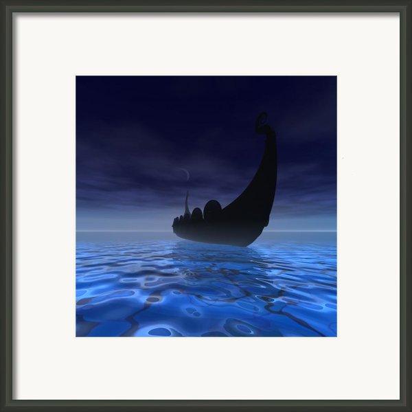 Viking Ship Framed Print By Corey Ford