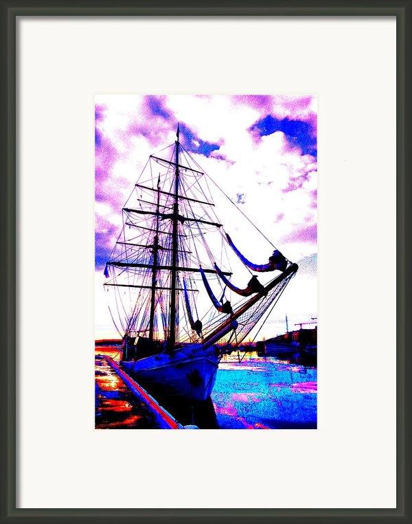 Vikings Go Sailing  Framed Print By Hilde Widerberg