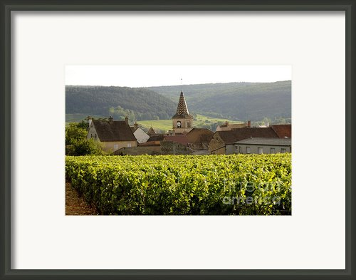 Village Of Monthelie. Burgundy. France Framed Print By Bernard Jaubert