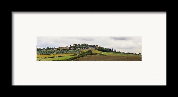 Ville Di Corsano Near Siena - Tuscany Italy Framed Print By Karen Stephenson
