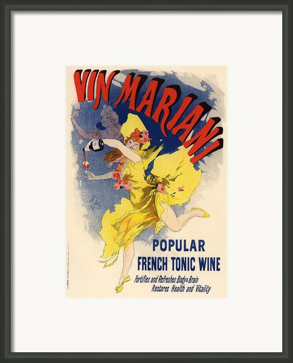 Vin Mariani Framed Print By Sanely Great