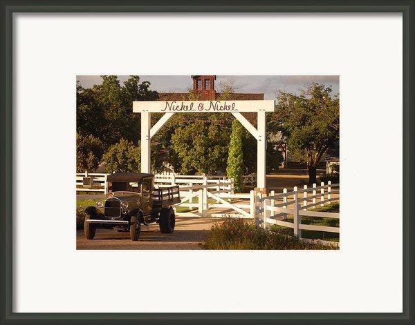 Vineyard Trucking Framed Print By Holly Blunkall