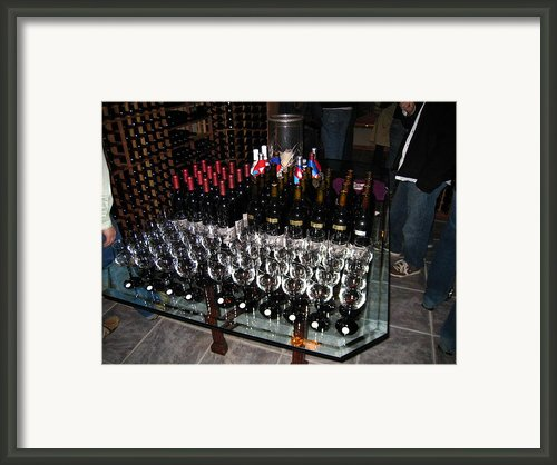 Vineyards In Va - 121271 Framed Print By Dc Photographer