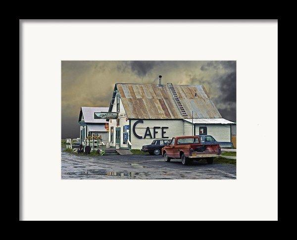 Vintage Alaska Cafe Framed Print By Ron Day