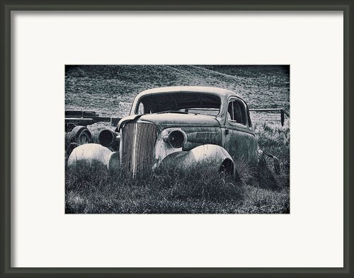 Vintage Car At Bodie Framed Print By Kelley King