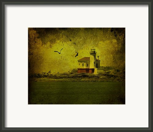 Vintage Coquille River Lighthouse Framed Print By Diane Schuster