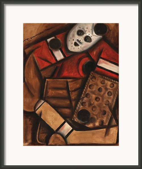 Vintage Hockey Goalie Framed Print By Tommervik