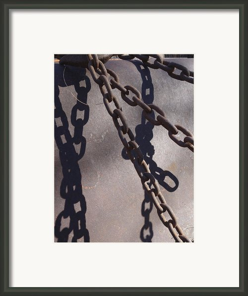 Vintage Metal Chains Framed Print By Ann Powell