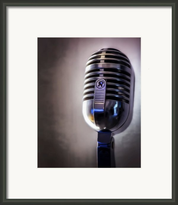 Vintage Microphone 2 Painted Framed Print By Scott Norris