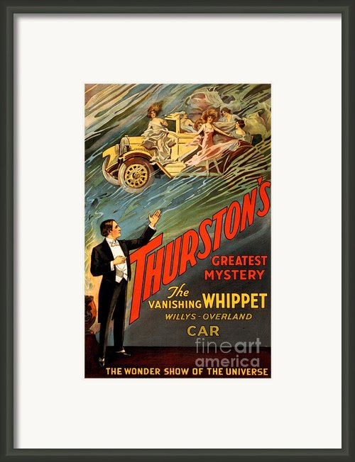 Vintage Nostalgic Poster - 8034 Framed Print By Wingsdomain Art And Photography