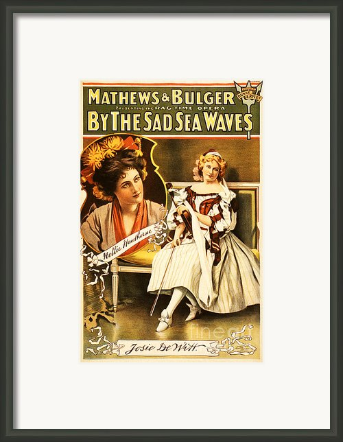 Vintage Nostalgic Poster - 8035 Framed Print By Wingsdomain Art And Photography