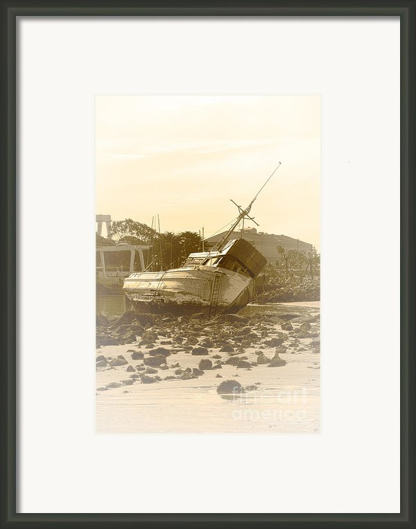 Vintage Shipwreck  Framed Print By Artist And Photographer Laura Wrede