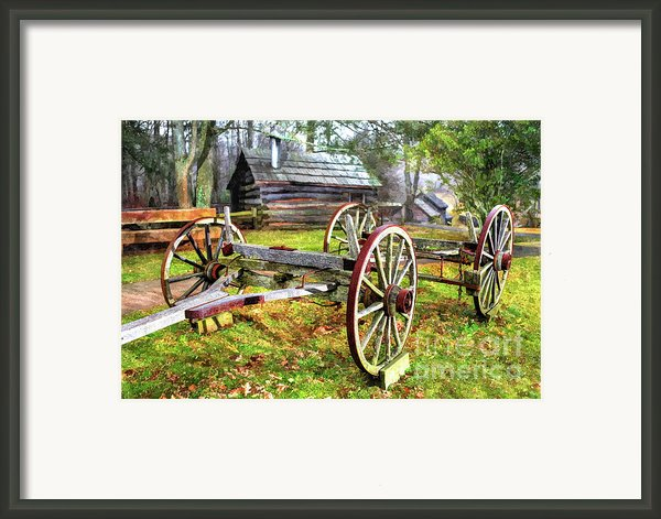 Vintage Wagon On Blue Ridge Parkway I Framed Print By Dan Carmichael