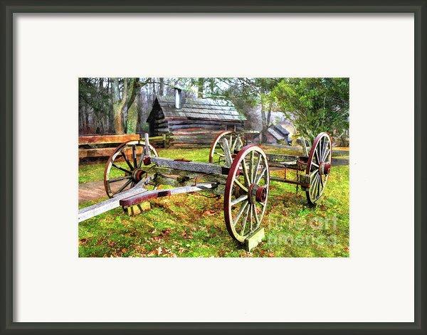 Vintage Wagon On Blue Ridge Parkway I Framed Print By Dan Carmichael