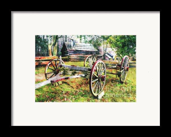 Vintage Wagon On Blue Ridge Parkway Ii Framed Print By Dan Carmichael