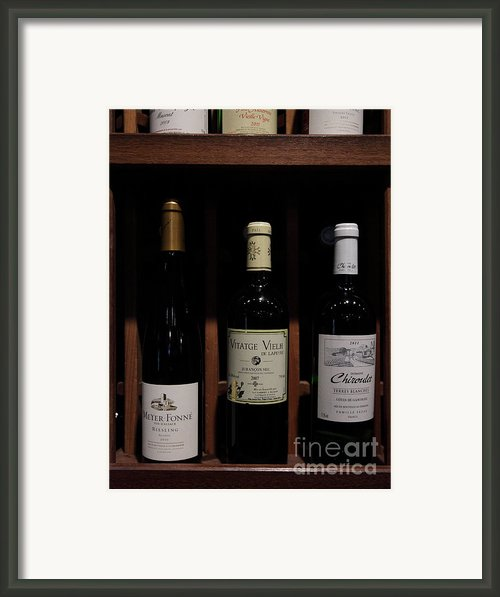 Vintage Wine - 5d20804 Framed Print By Wingsdomain Art And Photography