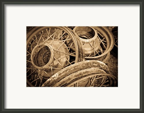 Vintage Wire Wheels Framed Print By Steve Mckinzie