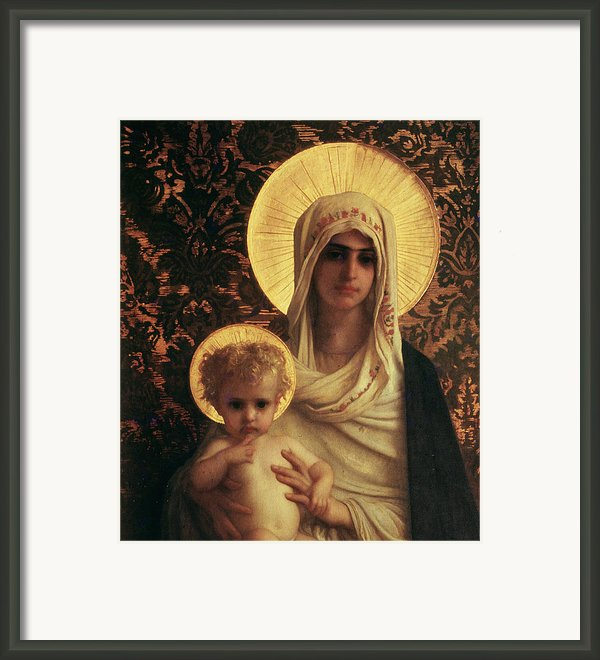 Virgin And Child Framed Print By Antoine Auguste Ernest Herbert