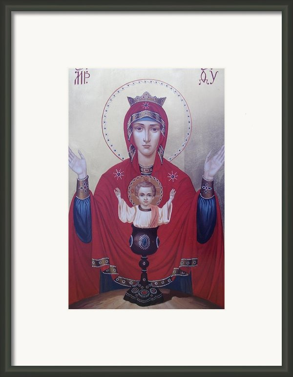 Virgin Mary-inexhaustible Cup Framed Print By Janeta Todorova