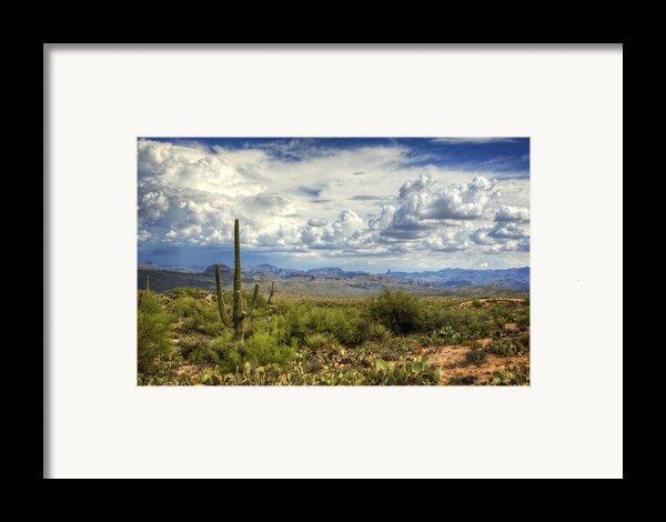 Visions Of Arizona  Framed Print By Saija  Lehtonen