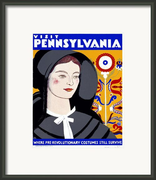 Visit Pennsylvania Framed Print By Nomad Art And  Design
