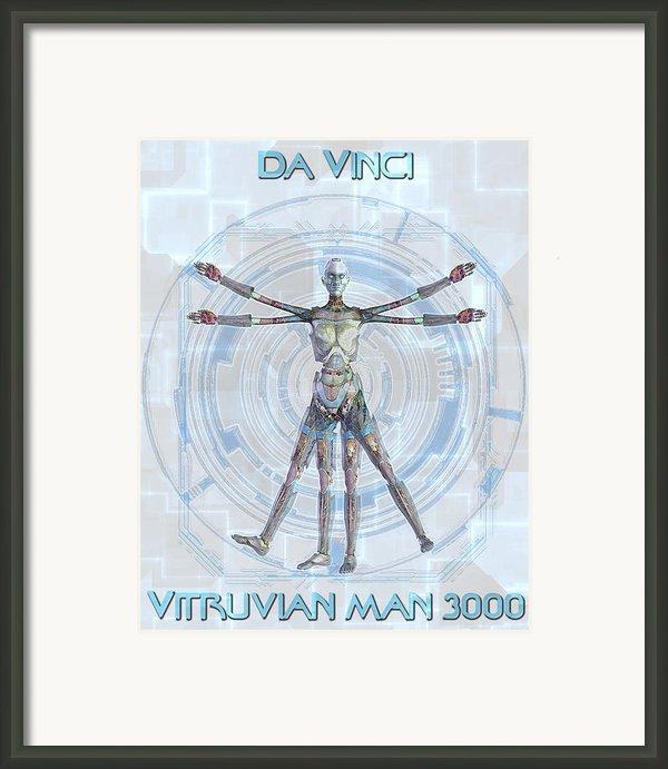 Vitruvian Man 3000 Framed Print By Frederico Borges