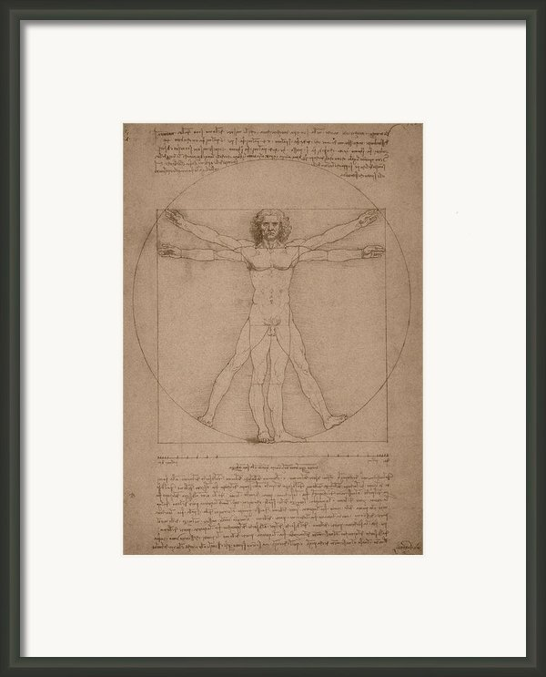 Vitruvian Man  Framed Print By War Is Hell Store