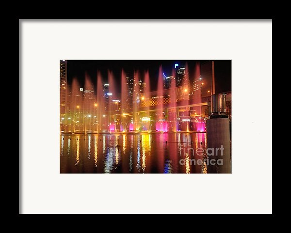 Vivid Sydney By Kaye Menner -  Vivid Aquatique  Framed Print By Kaye Menner