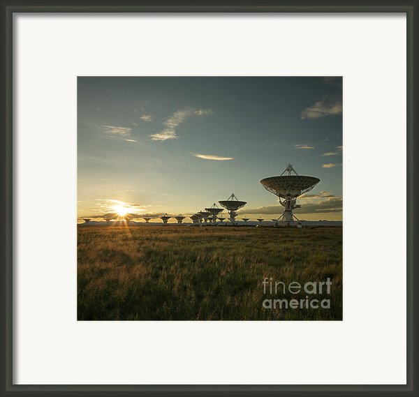 Vla At Sunset Framed Print By Matt Tilghman