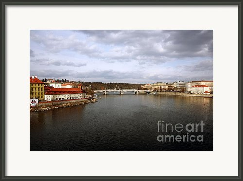 Vltava River View Framed Print By John Rizzuto