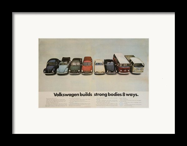 Volkswagen Body Facts Framed Print By Nomad Art And  Design