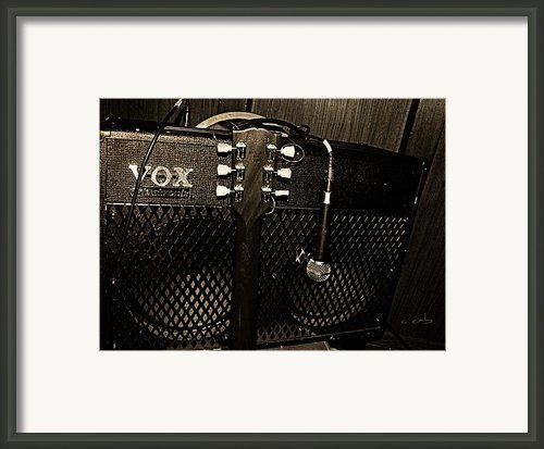 Vox Amp Framed Print By Chris Berry