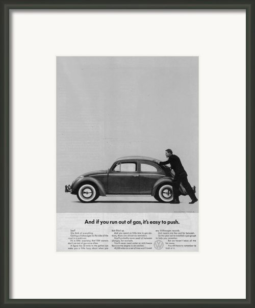 Vw Beetle Advert 1962 - And If You Run Out Of Gas It