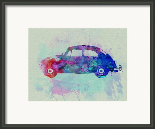 Vw Beetle Watercolor 1 Framed Print By Irina  March