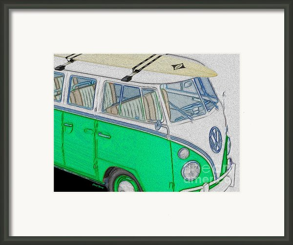 Vw Surf Bus Framed Print By Cheryl Young